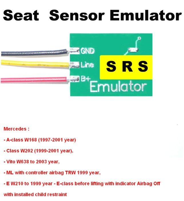 SRS6 Mercedes Seat Sensor Emulator , Car Repair Troubleshooting for Mercedes Benz